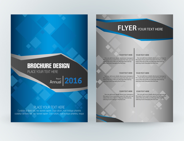 Flyer Template Design With Squares Vignette Style-vector Misc-free - free design flyer templates