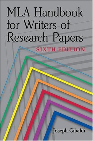 MLA Handbook for Writers of Research Papers by Joseph Gibaldi