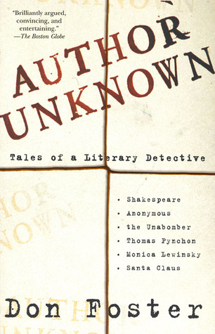 Read Books Author Unknown: Tales of a Literary Detective Online