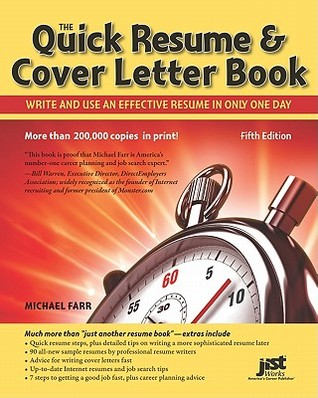 The Quick Resume  Cover Letter Book Write and Use an Effective