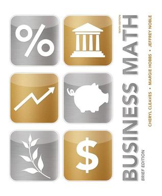 Business Math by Cheryl Cleaves - business math