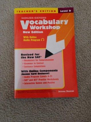Sadlier-Oxford Vocabulary Workshop (New Edition) Level D Teacher\u0027s