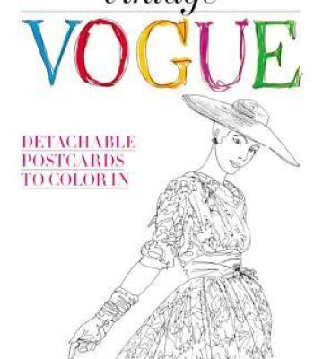 Vintage Vogue Detachable Postcards To Color In