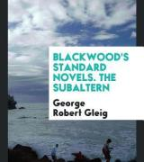 Blackwood's Standard Novels. the Subaltern
