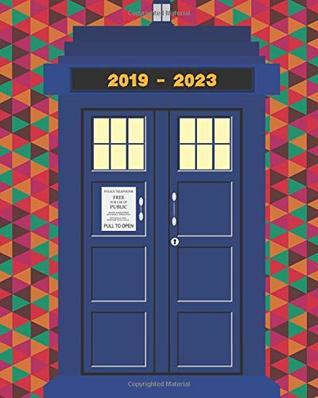 2019-2023 Five Year Planner Tardis Notebook Monthly Calendar