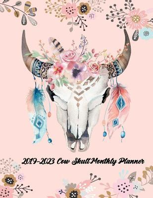 2019-2023 Cow Skull Monthly Planner 60 Months Pretty Simple