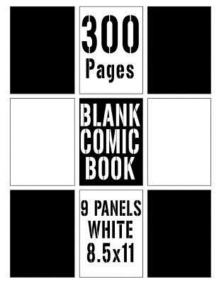 300 Pages Blank Comic Book Large 9 Panels White 85x11 Large