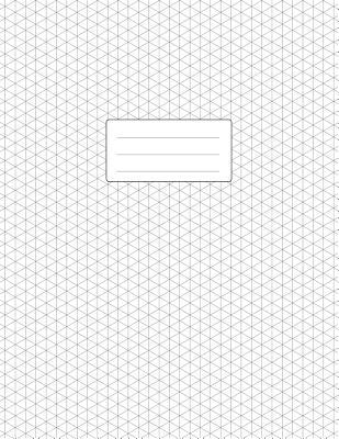 Isometric Graph Paper Notebook Large Pad 85x11 110 Pages Subtle