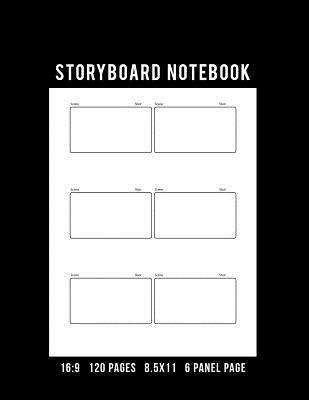 Storyboard Notebook 169 Aspect Ratio 120 Pages 85x11in 6 Panel