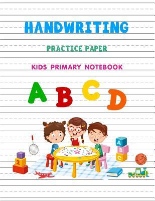 Handwriting Practice Paper Blank Writing Sheets Kids Primary