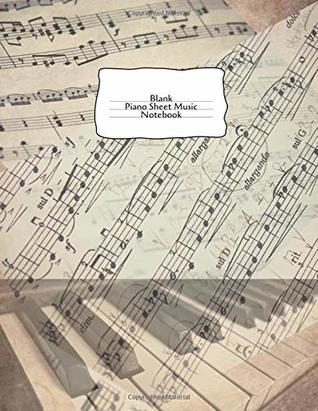 Blank Piano Sheet Music Notebook Staff Paper for Score Composition