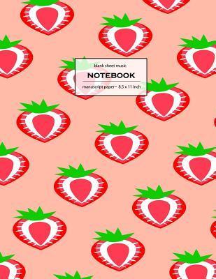 Blank Music Sheet Notebook Staff Paper, 12 Staves Music Notebook