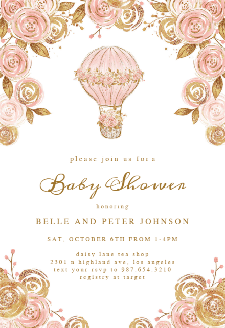 Invitation Template Google Docs Baby Shower Invitations For Girls (free Templates