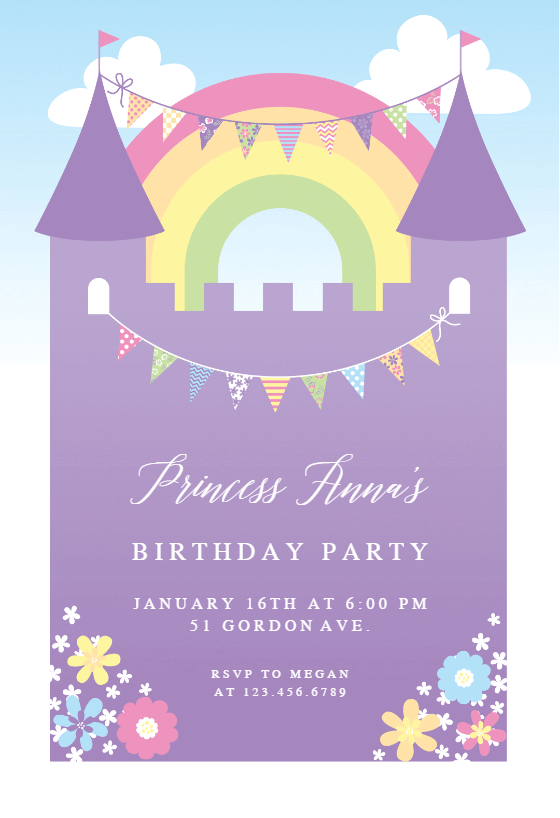 free printable girls birthday invitations