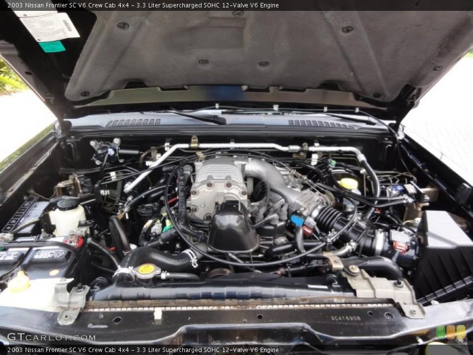 33 Liter Supercharged SOHC 12-Valve V6 2003 Nissan Frontier Engine