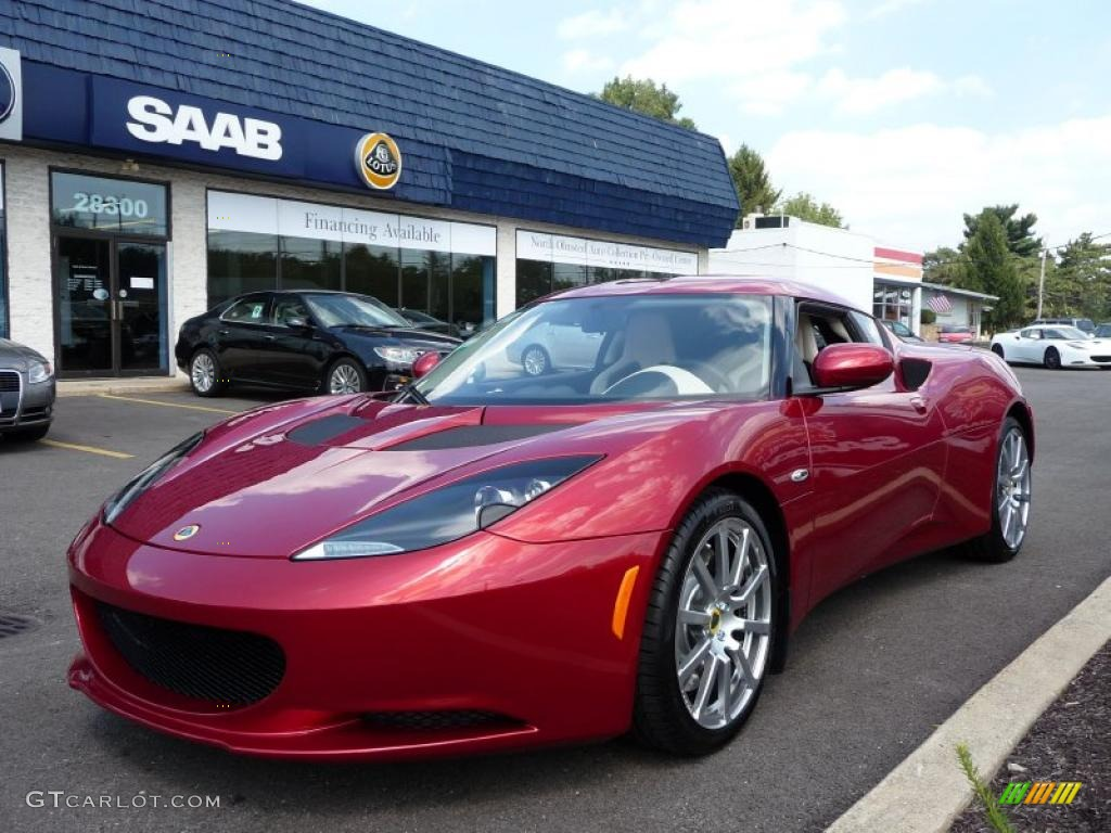 2010 evora coupe canyon red metallic oyster leather photo 1