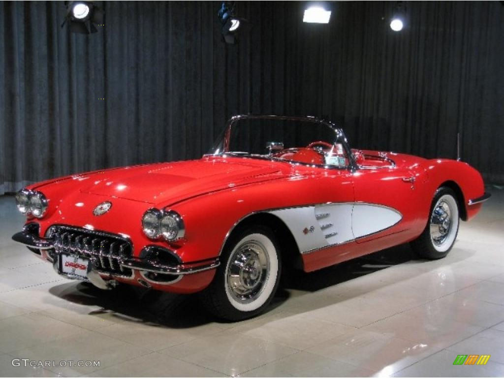 Wallpapers Of Car Corvette Convertible With Black Lights 1958 Signet Red Chevrolet Corvette Convertible 37423389