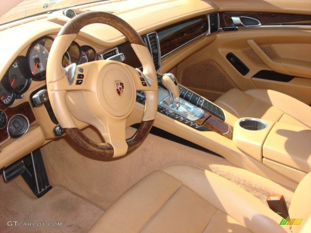 Wohnlandschaft Leder Cognac Cognac Natural Leather Interior 2010 Porsche Panamera 4s