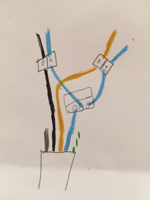 Kabel anschließen adriges 5