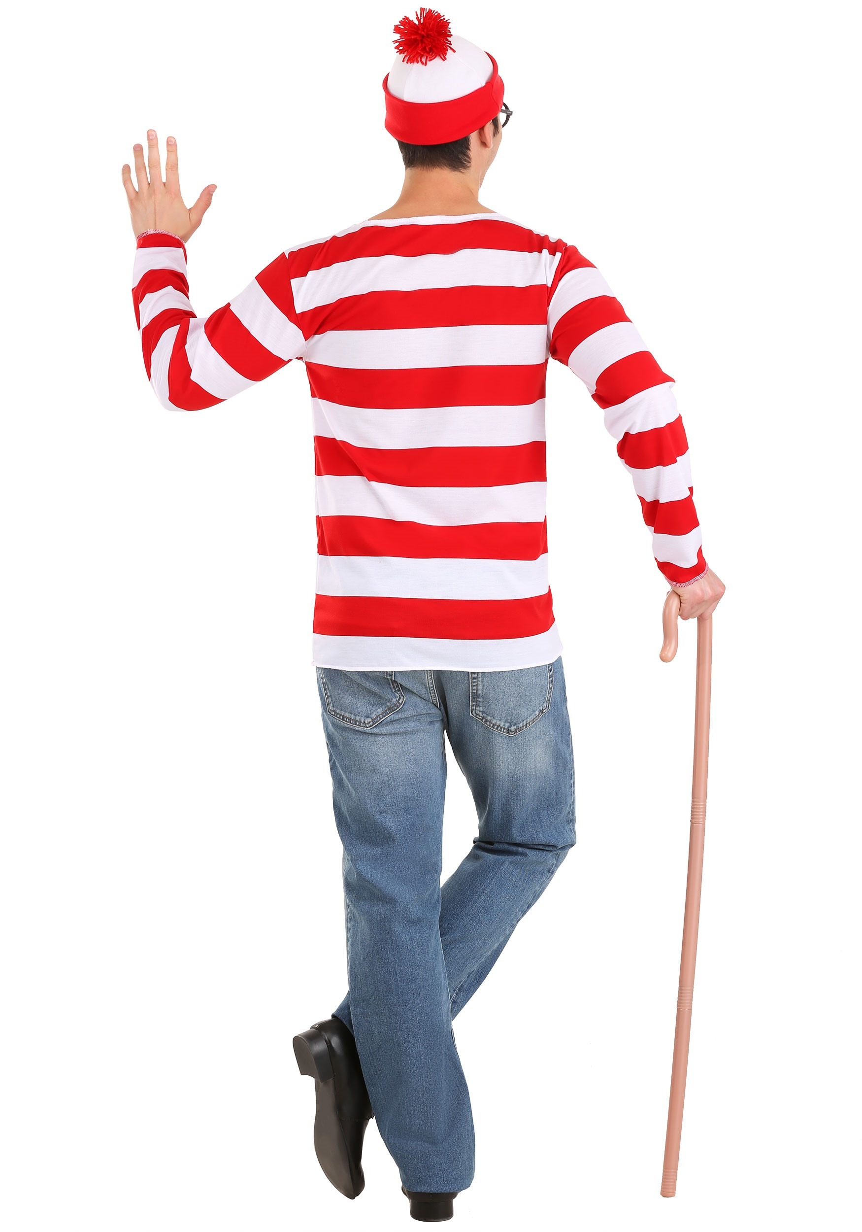 Large Frame Round Glasses Where 39;s Waldo Costume Where Is Waldo Halloween Costumes