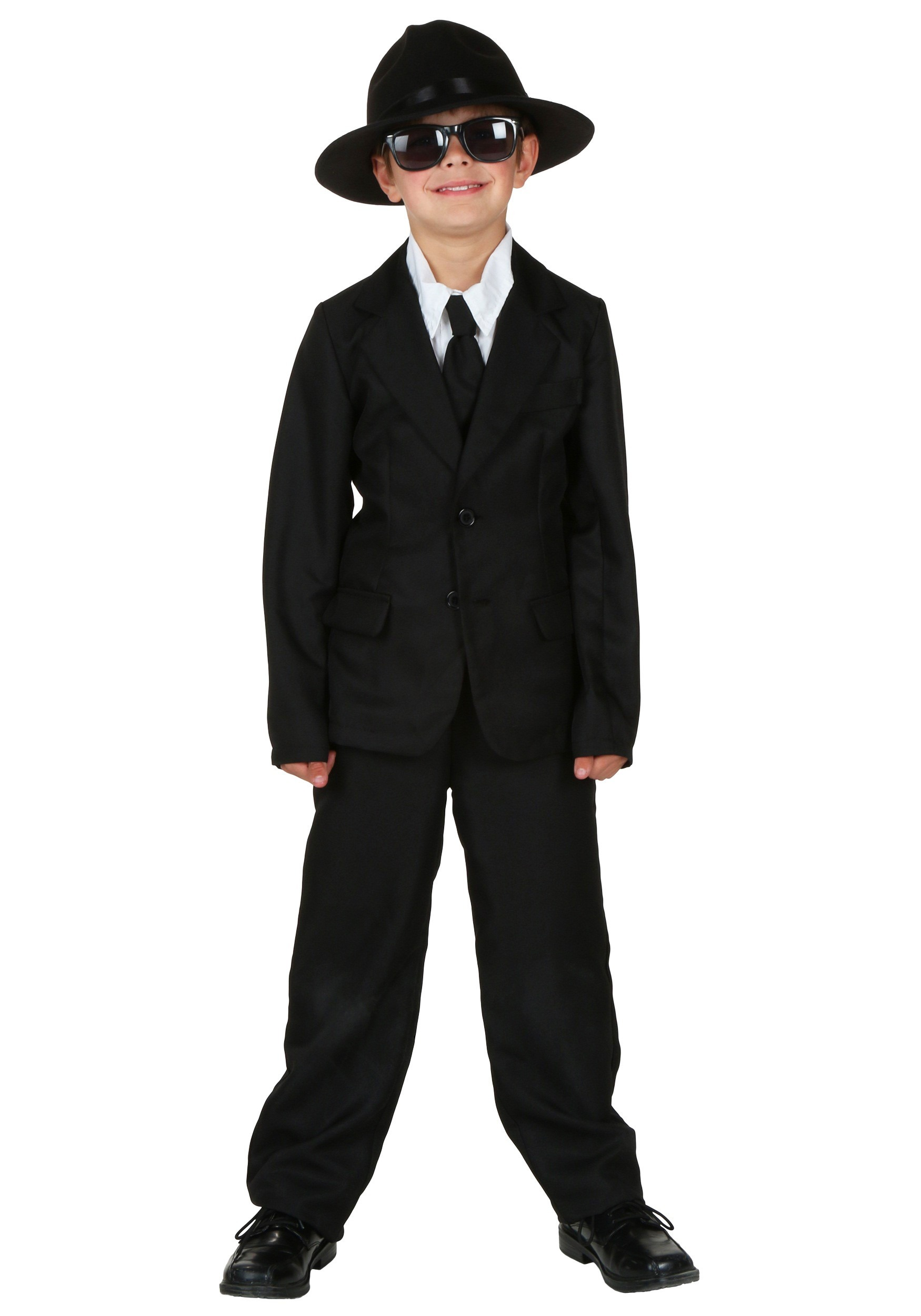 Toddler Child Hat Size Black Suit For Kids Costume