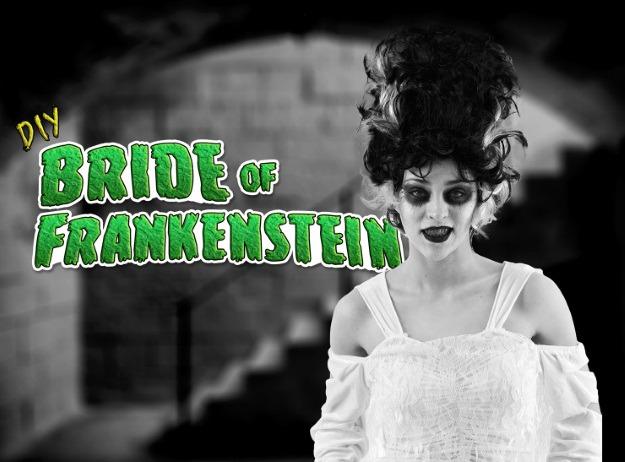 Diy Bride Of Frankenstein Costume And Makeup Halloween