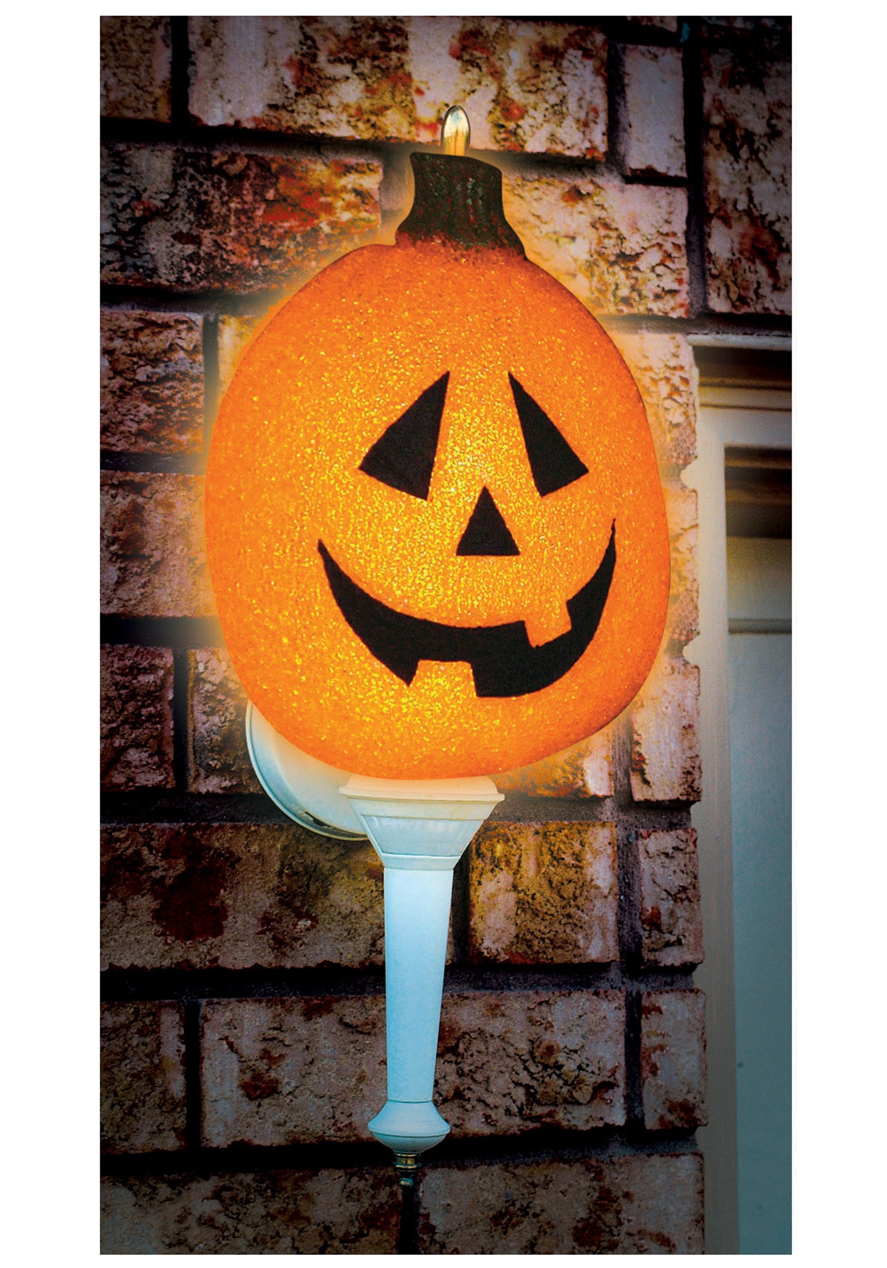 Outdoor Covers Sparkling Pumpkin Porch Light Cover