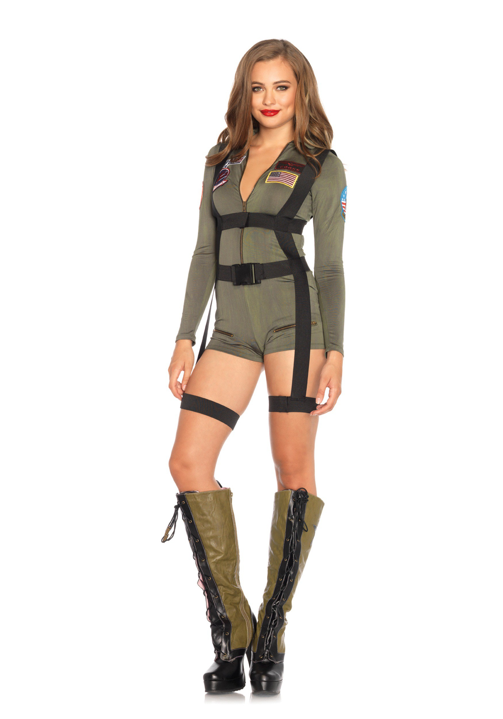 Navy Pin Up Girl Wallpaper Women S Top Gun Romper Costume