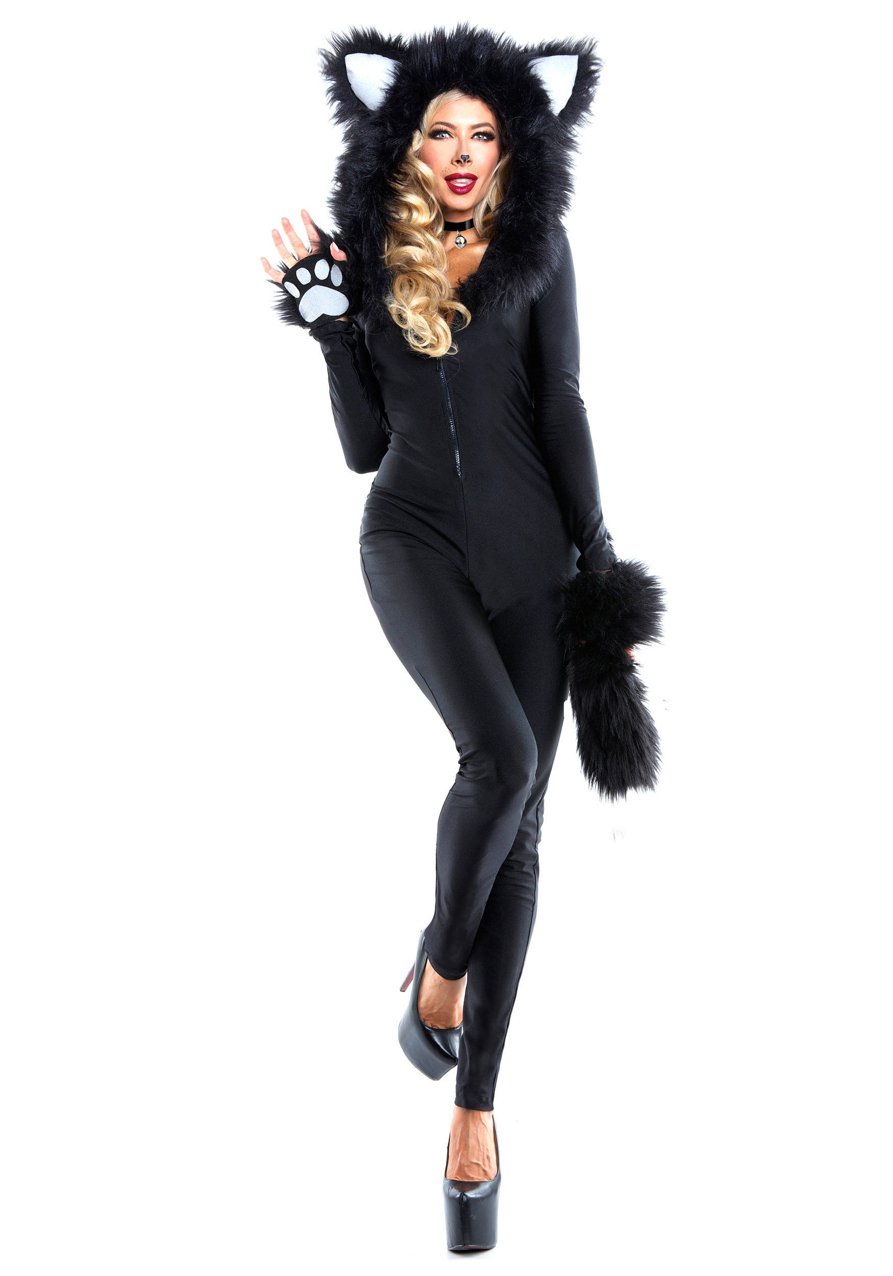 Fur Womens Women S Furry Feline Costume