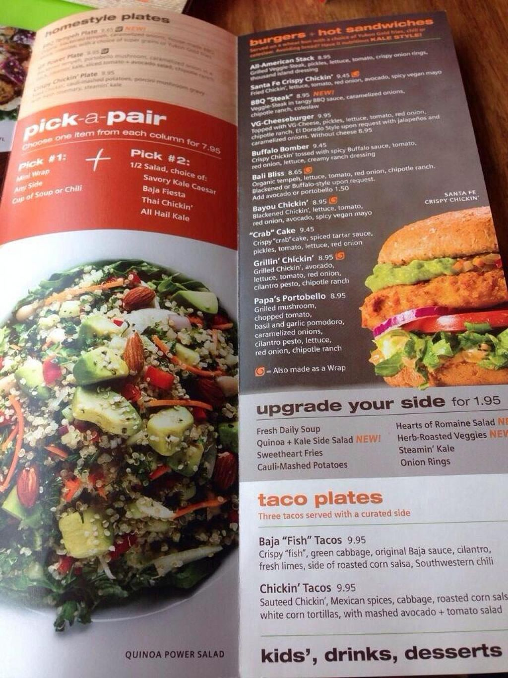 Camino Real Menu Nutritional Information Veggie Grill Mountain View Review