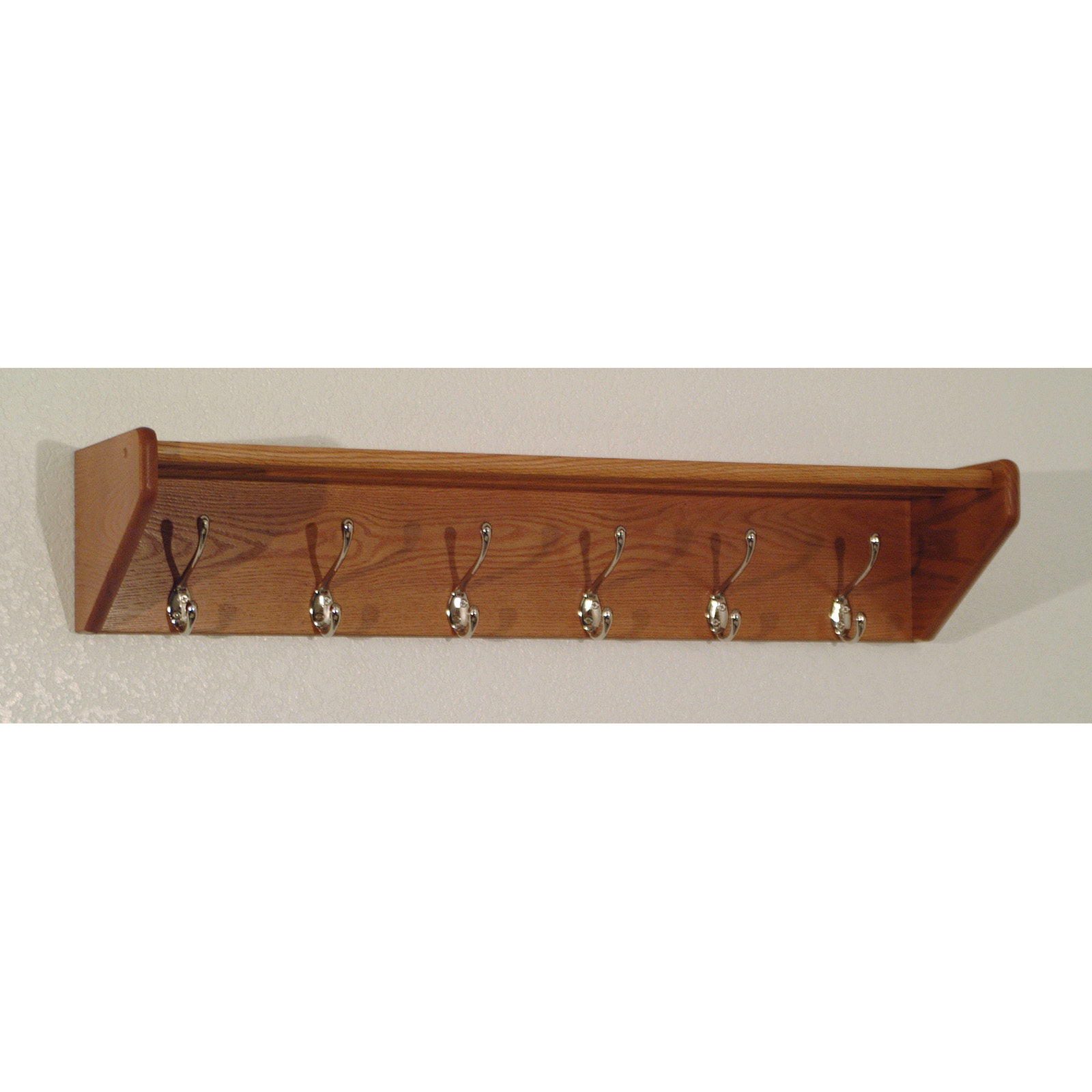 Hat Holders For Walls 6 Hook Wooden Wall Coat And Hat Rack Ebay
