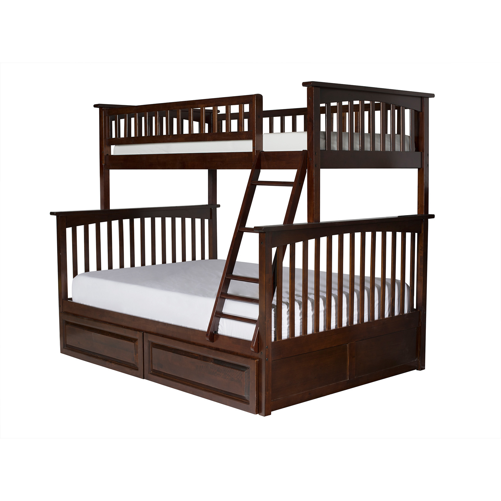 Tweepersoons Stapelbed Atlantic Furniture Columbia Twin Over Full Bunk Bed Kids