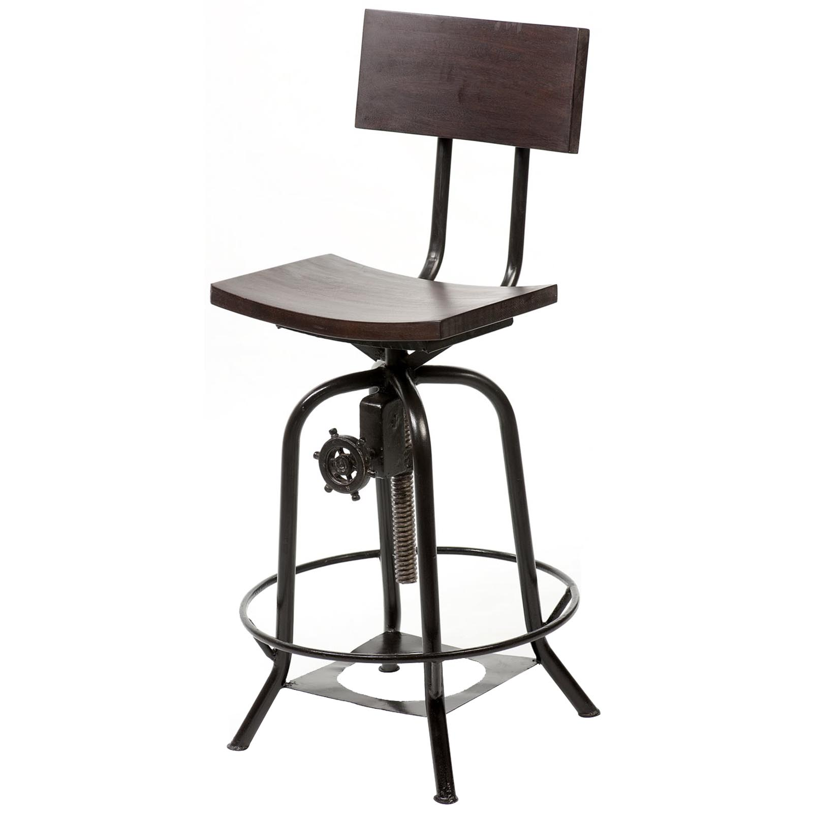 Industrial Counter Height Bar Stools Industrial Bar Stool Set Of 2 Bar Stools At Hayneedle