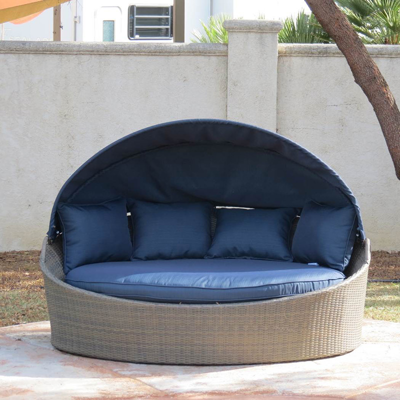Creative Outdoor Lighting Solutions Creative Living Moorea All-weather Wicker Cabana Day Bed