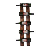 2 Day Designs Reclaimed 5-Bottle Wall Mounted Wine Rack ...