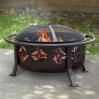 Pleasant Hearth Sunderland 36 in. Circular Fire Pit with