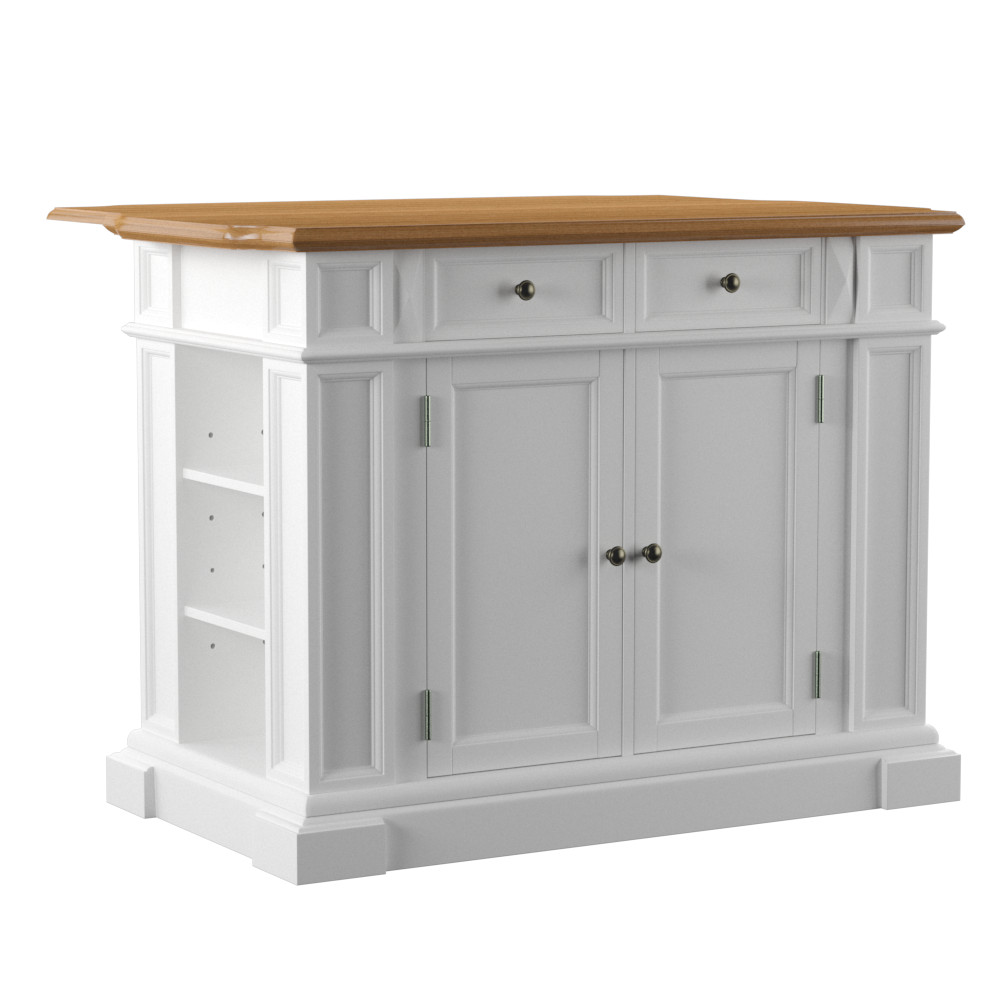 Kitchen Island Bar With Seating Home Styles White And Oak Finish Large Kitchen Island