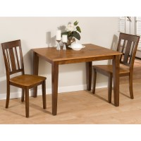 Jofran Kura Canyon 3 Piece Small Dining Table Set at Hayneedle