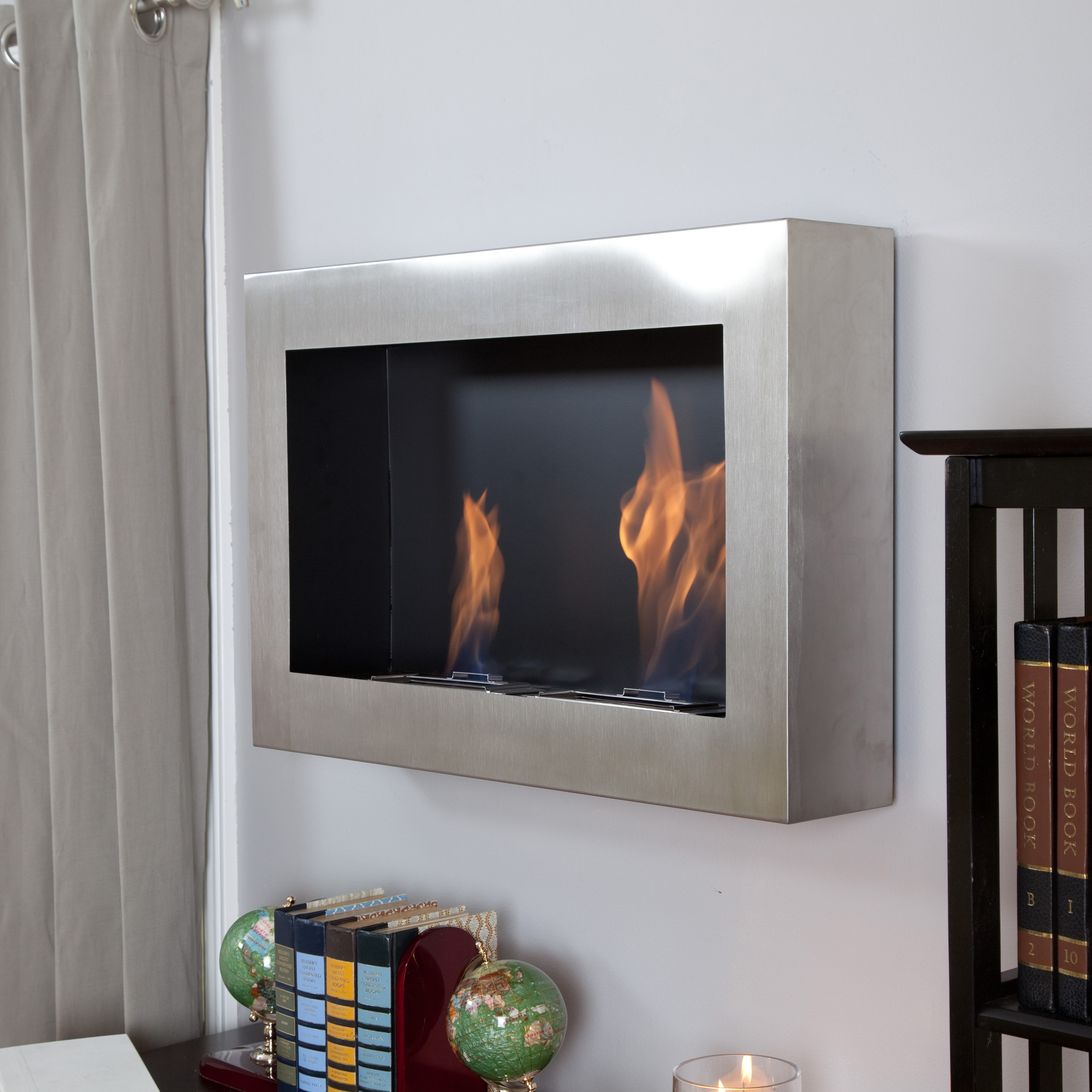 Stainless Steel Fireplace Anywhere Fireplace Soho Stainless Steel Indoor Fireplace