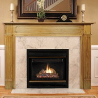 Pearl Mantels Williamsburg Wood Fireplace Mantel Surround ...