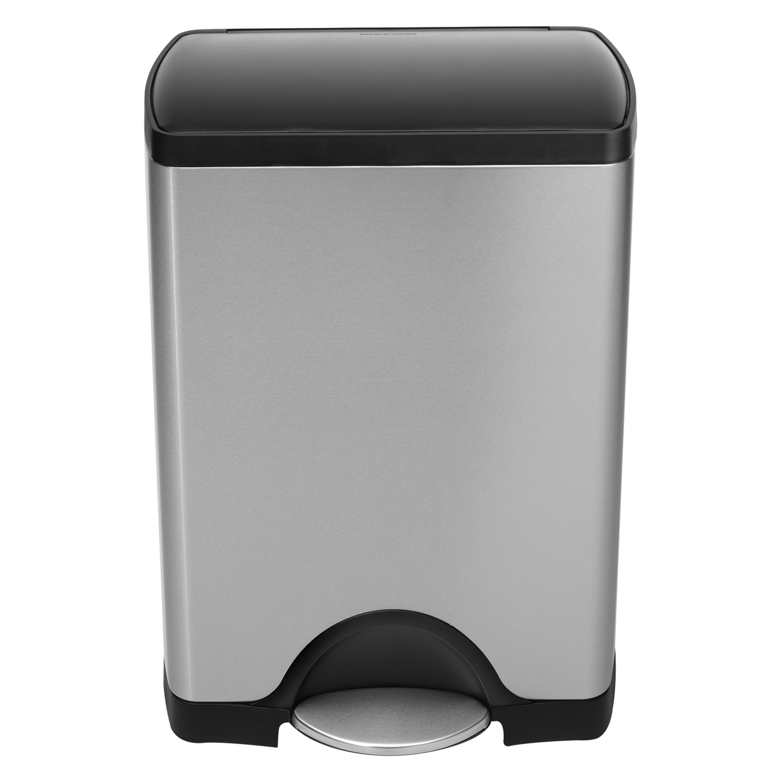 Narrow Kitchen Trash Can Simplehuman Rectangle Plastic Lid Step Trash Can Brushed