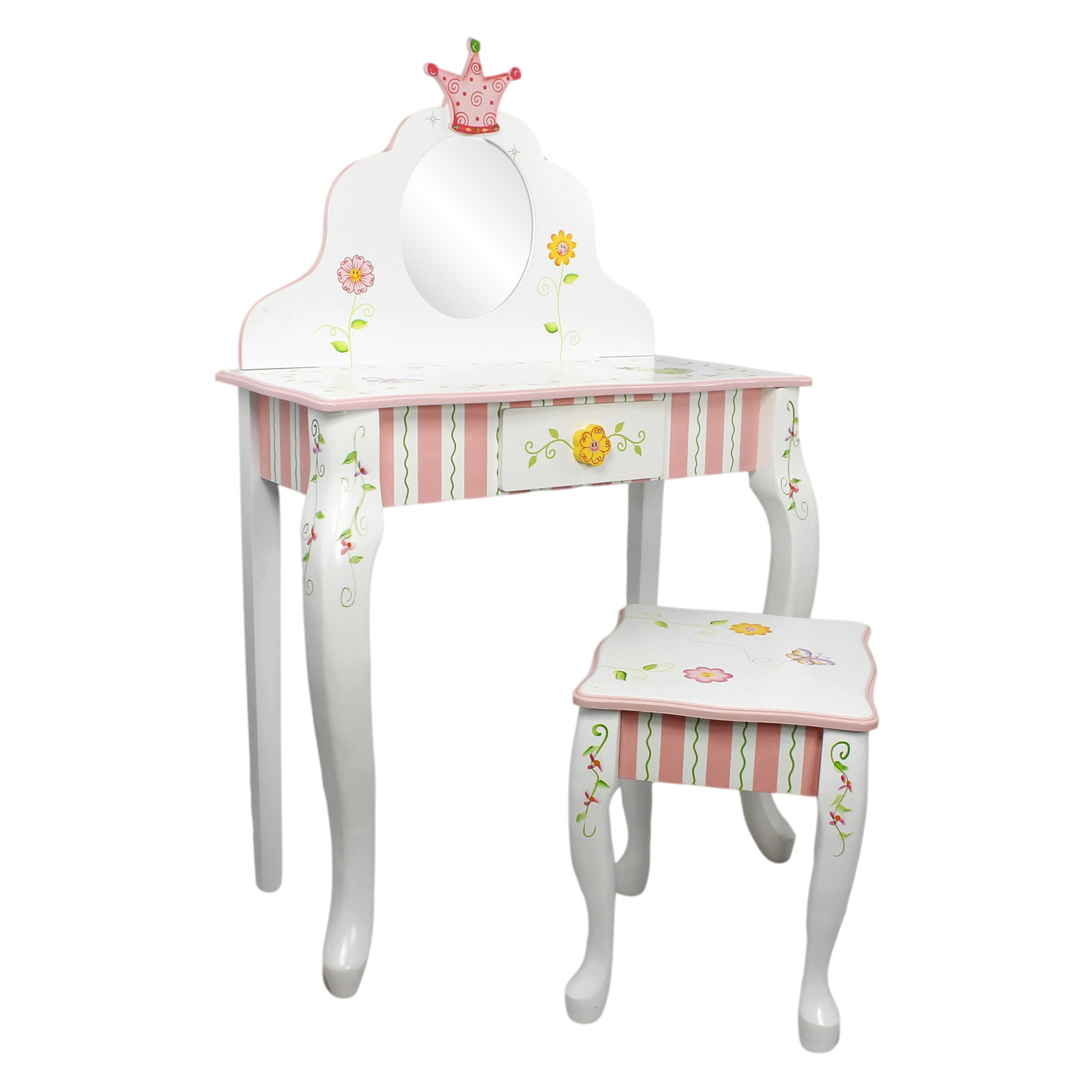 Kids Vanity Chairs Fantasy Fields Princess And Frog Vanity Table And Stool