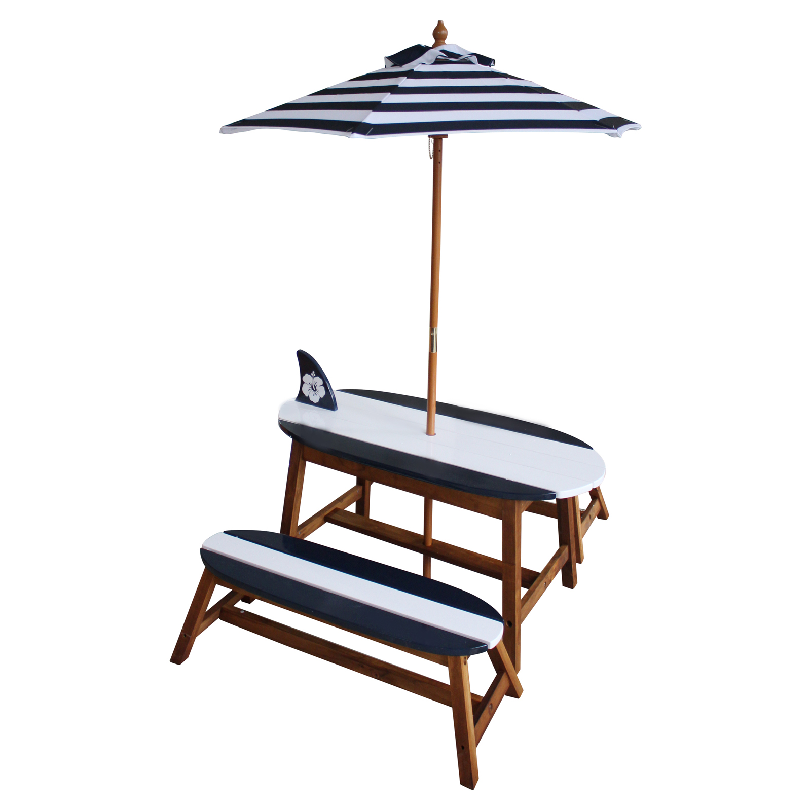 Surfboard Tables For Sale Teamson Kids Surfboard Outdoor Table And Bench Set With