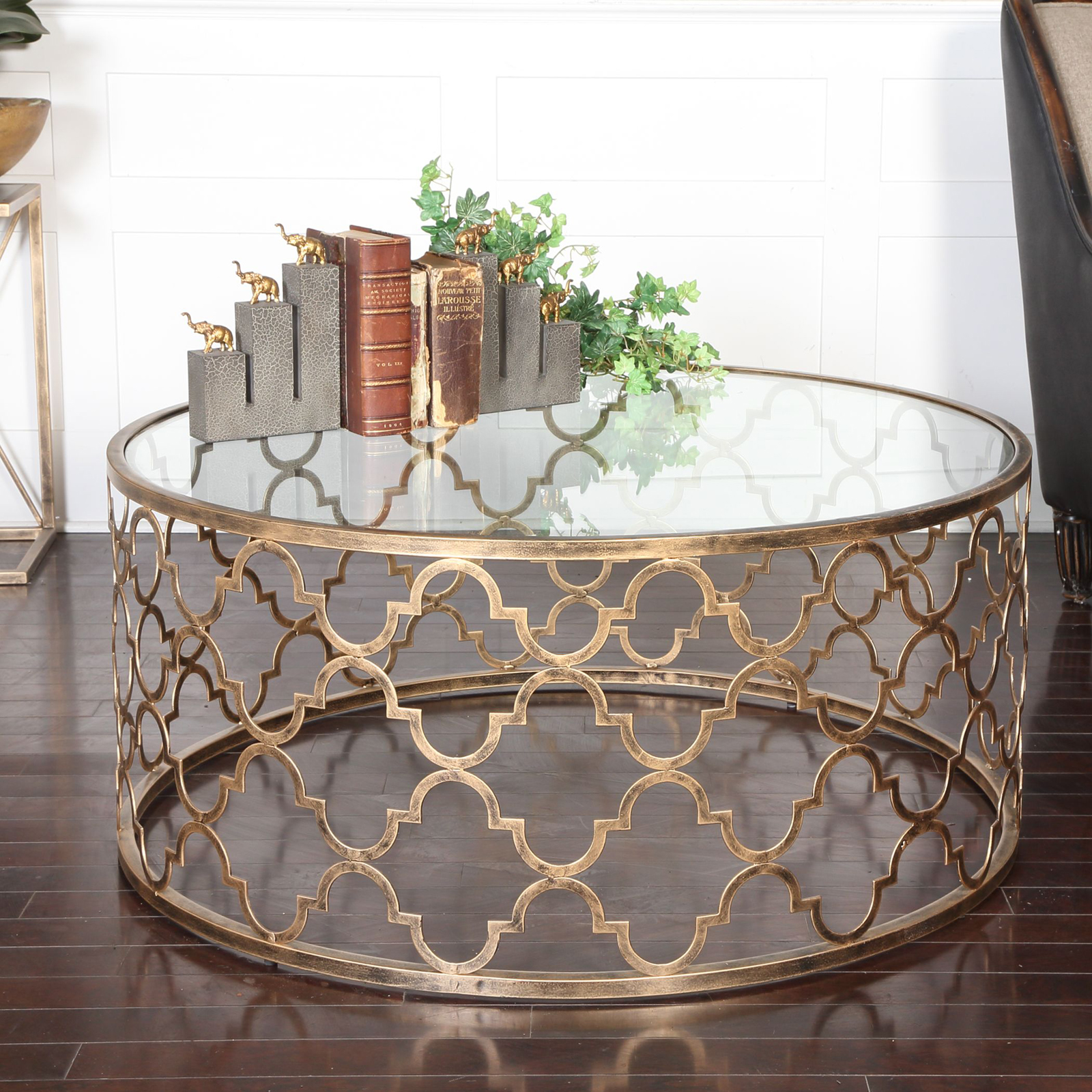 Uttermost Quatrefoil Coffee Table Coffee Tables At Hayneedle
