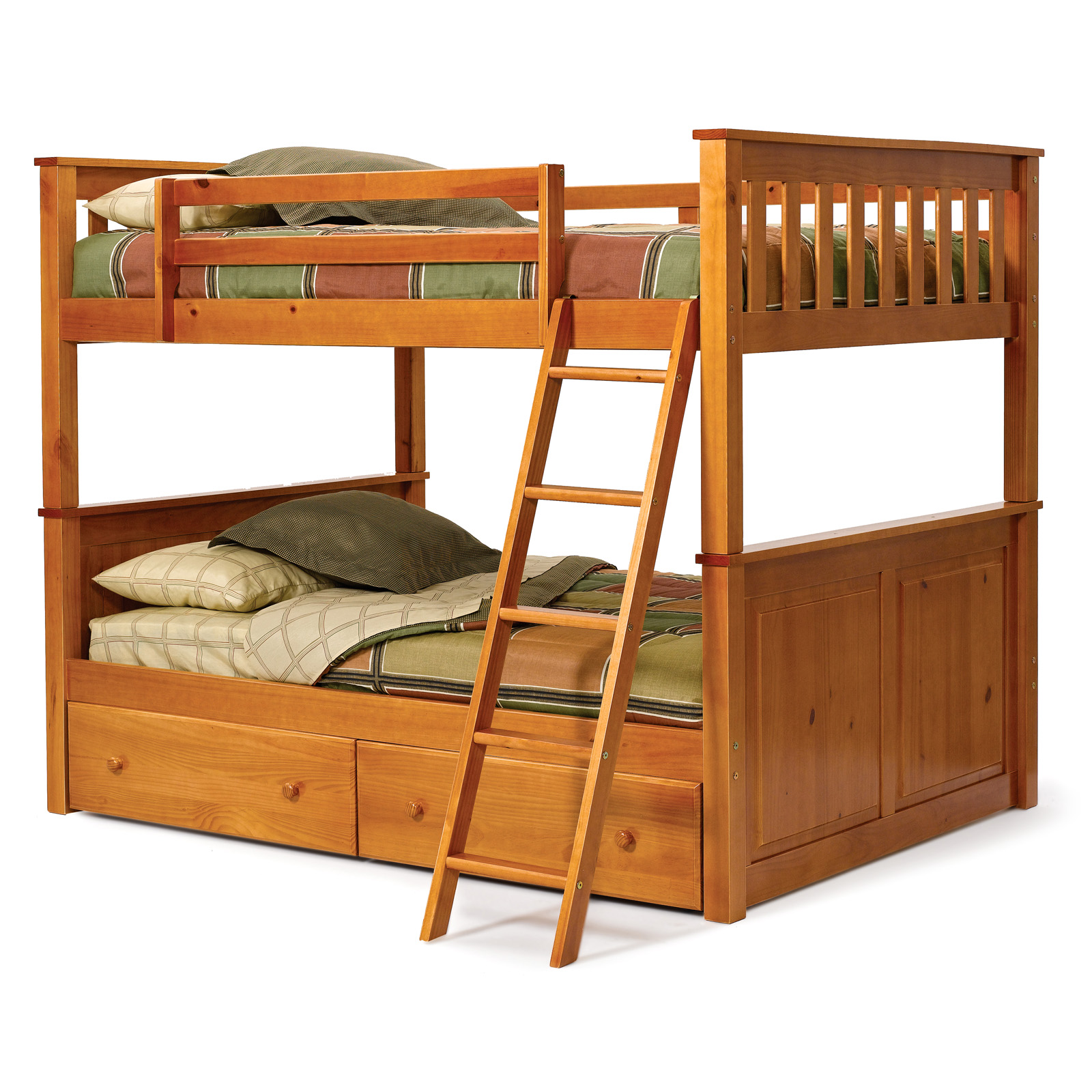Tweepersoons Stapelbed Pine Ridge Honey Pine Full Over Full Bunk Bed At Hayneedle