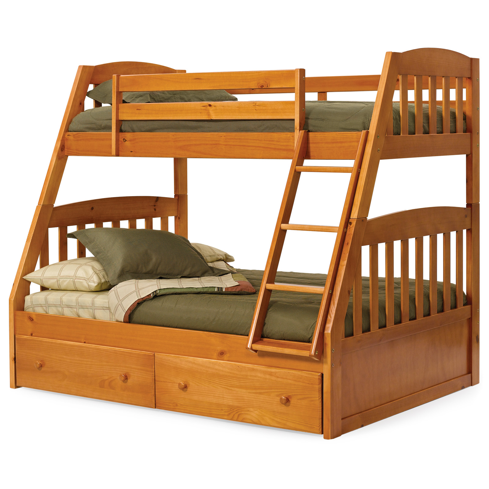 Tweepersoons Stapelbed Logan Honey Mission Twin Over Full Bunk Bed At Hayneedle