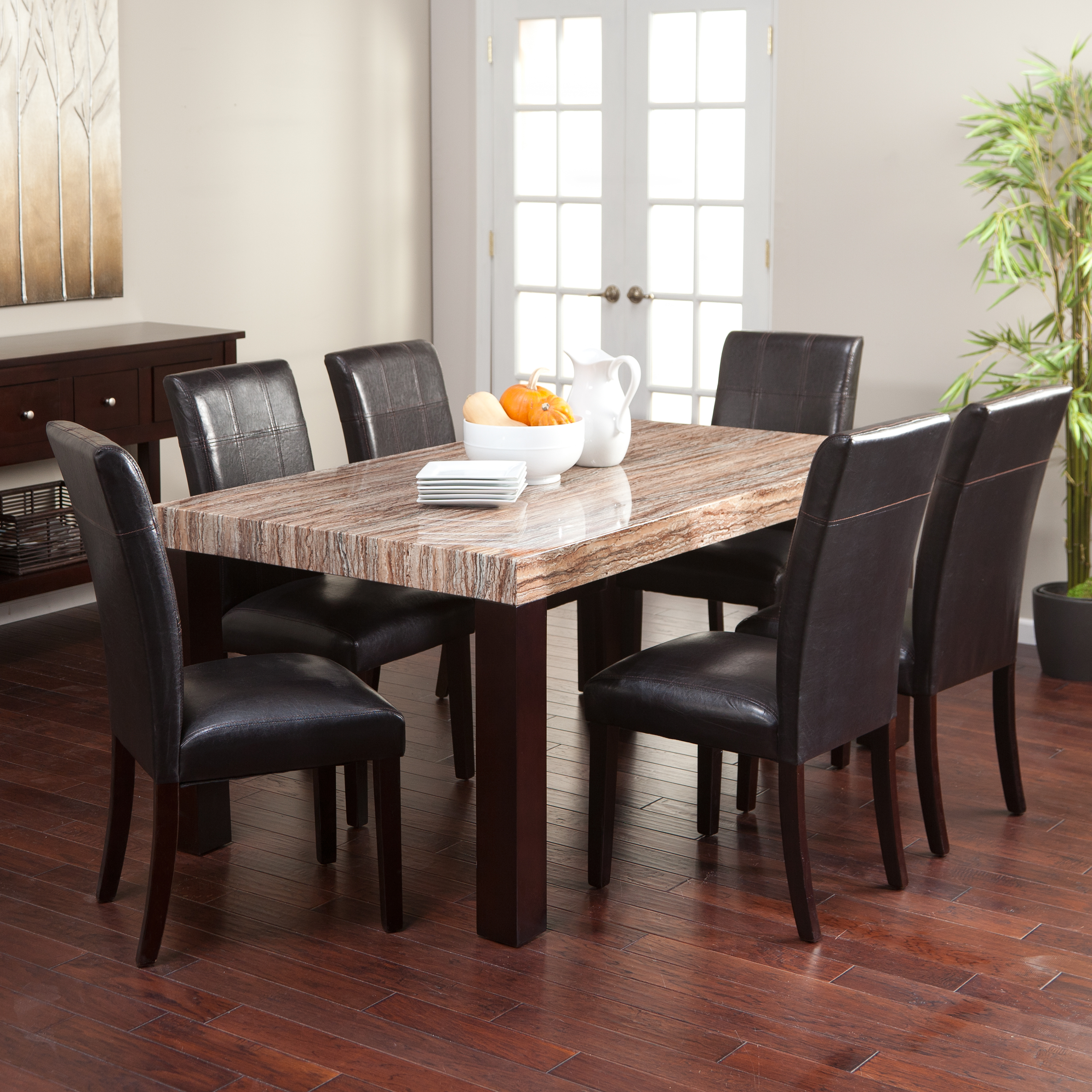 monarchdoublexbackchairswhiteoak kitchen table chairs Home Styles Monarch 7 Piece Dining Table Set with 6 Double X Back Chairs White Oak Dining Table Sets at Hayneedle