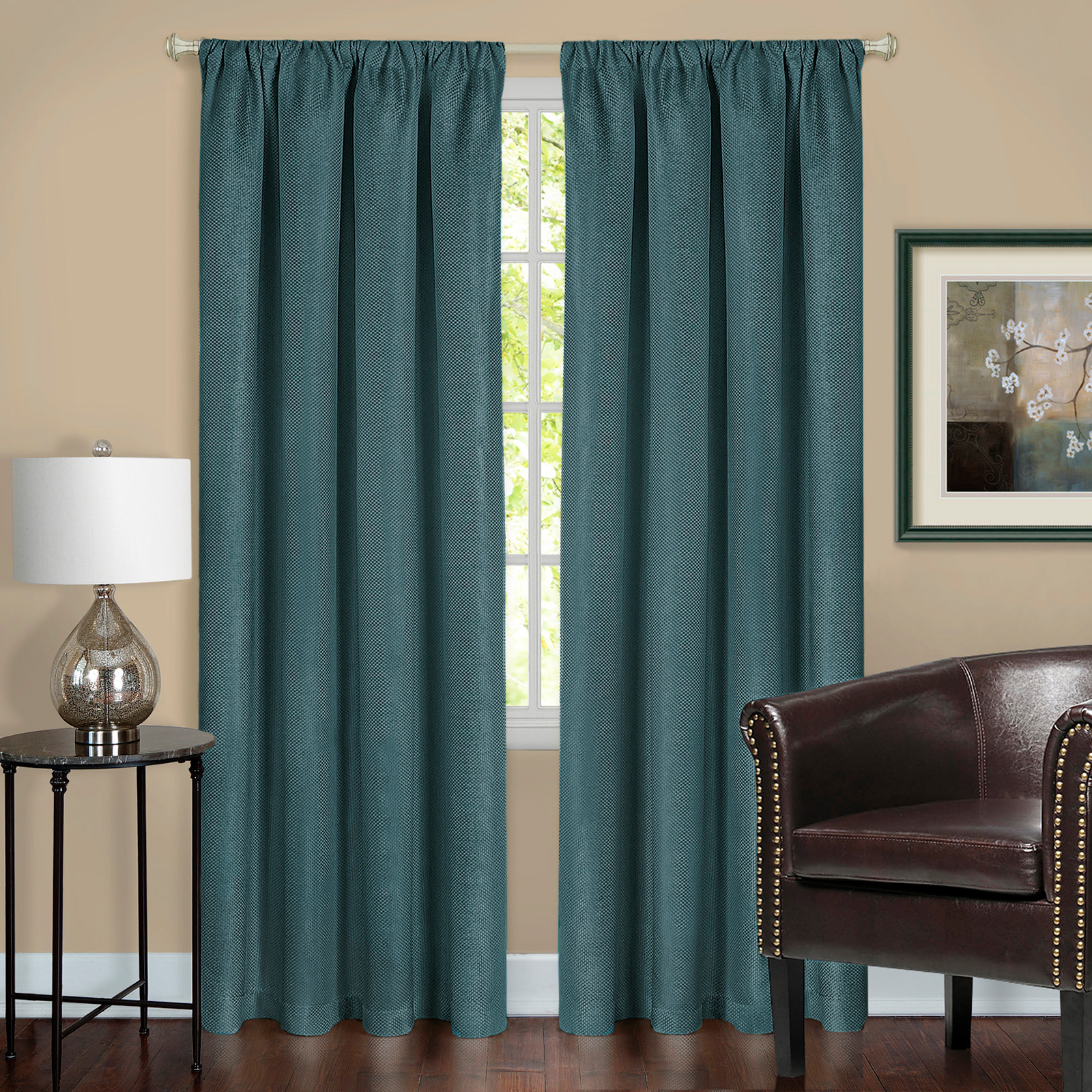 Teal Blackout Curtains Achim Harmony Blackout Curtain Panel Teal 63l X 52w In