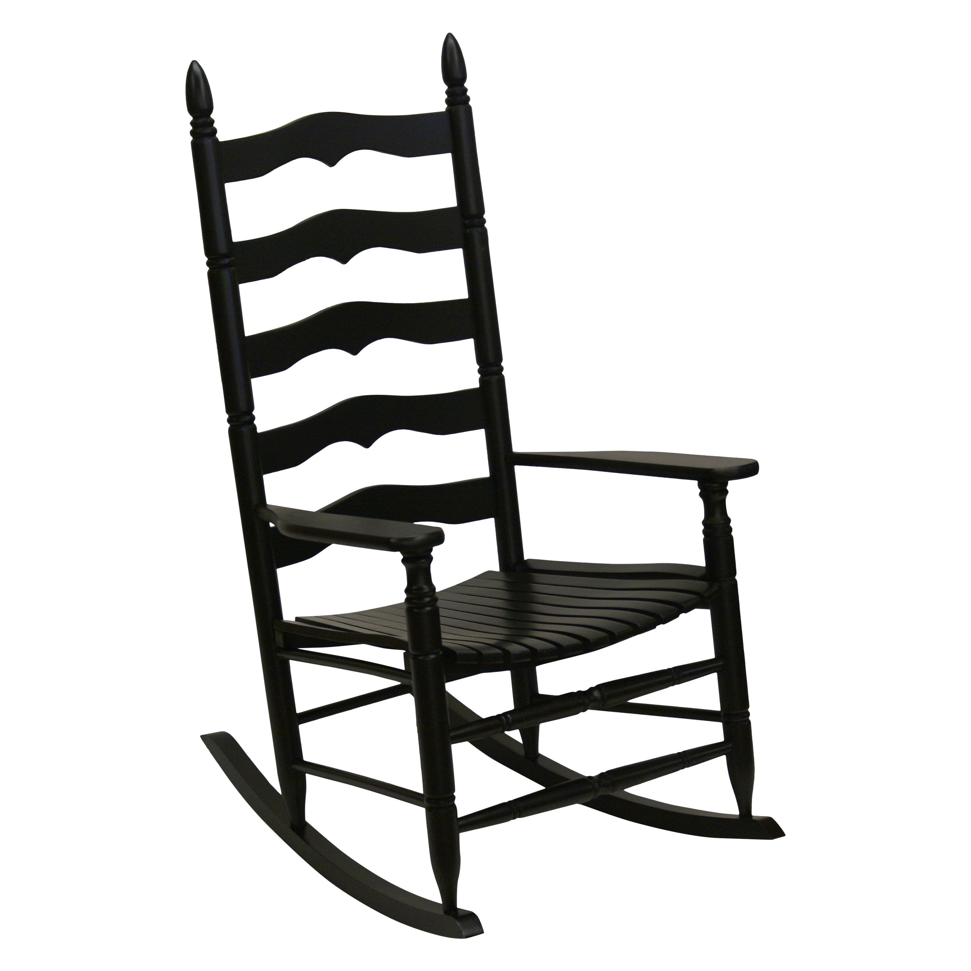 Patio Rocker Chairs Details About Hinkle Farm House Ladder Back Wood Patio Rocking Chair