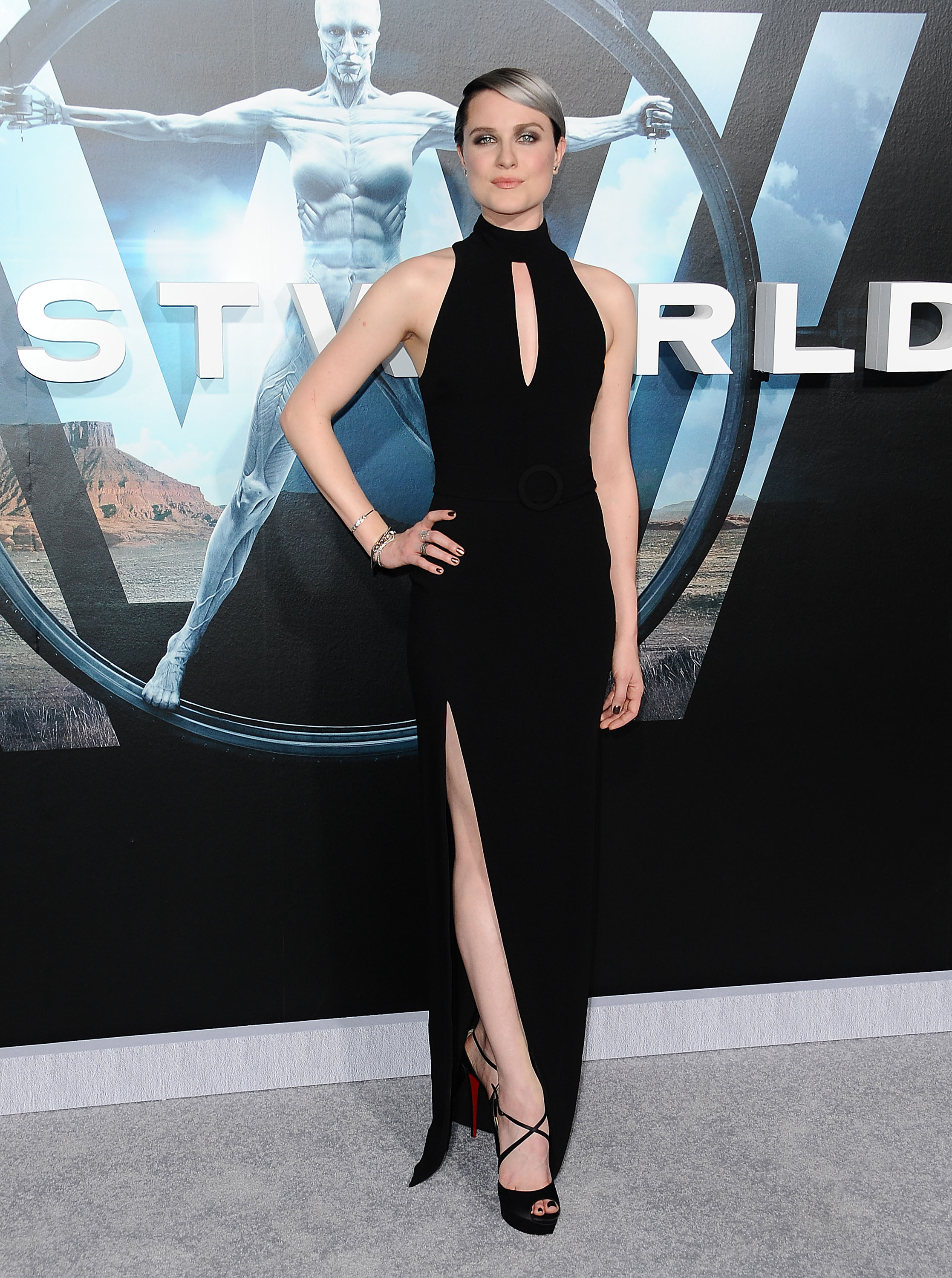 Black Wood Wallpaper Evan Rachel Wood S Silver Ombre Hair At The Quot Westworld